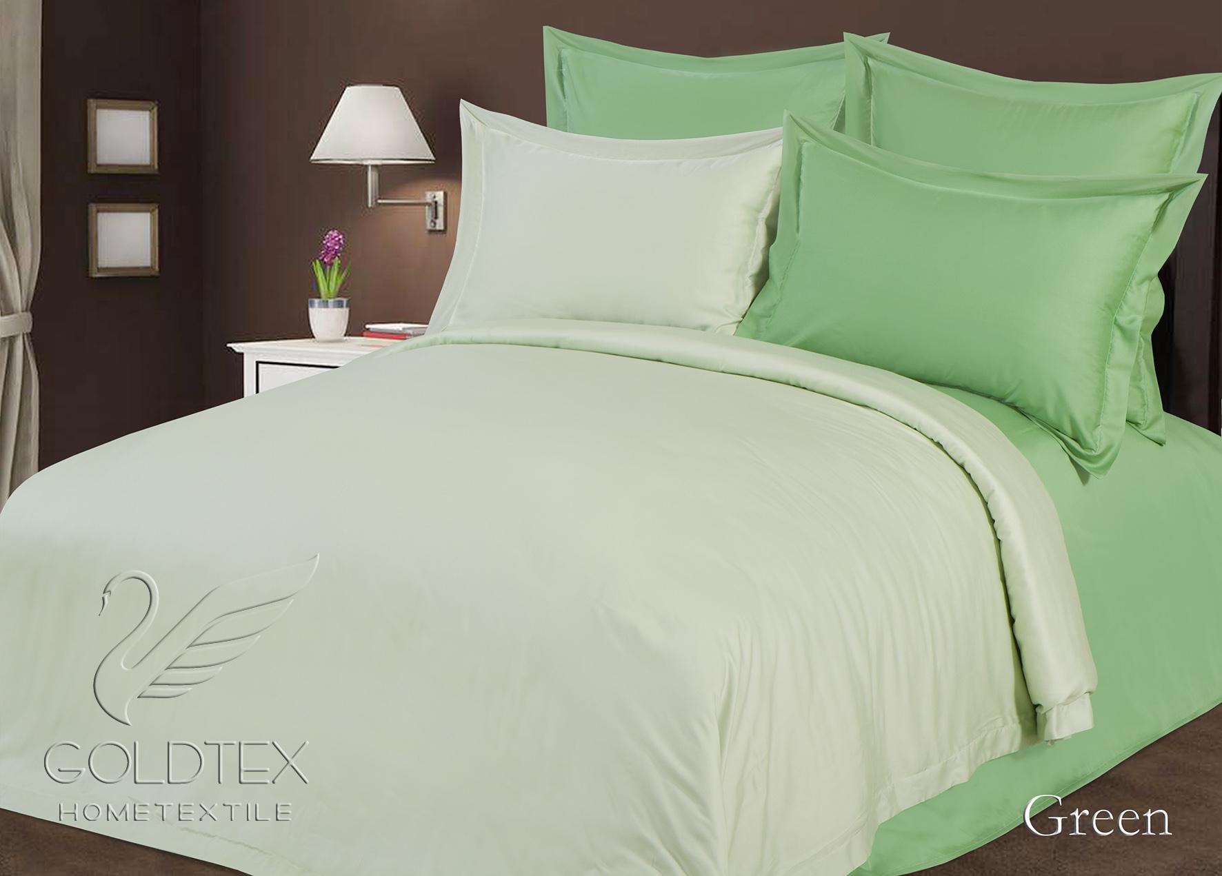Комплект  Green , размер 2,0-спальный с 4 наволочками - Постельное белье артикул: 10858