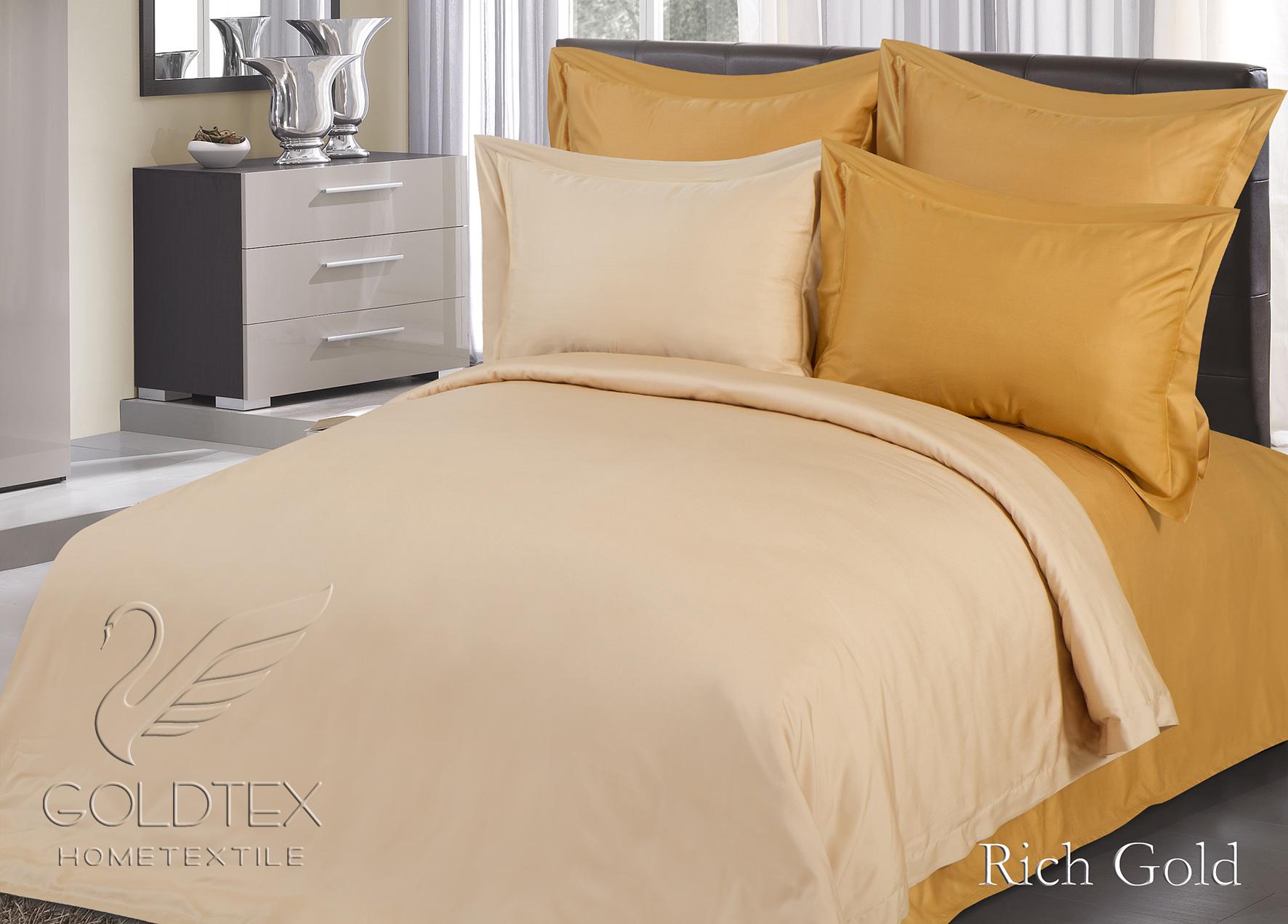 Комплект  Rich Gold , размер Евро с 4 наволочками - Постельное белье артикул: 10865