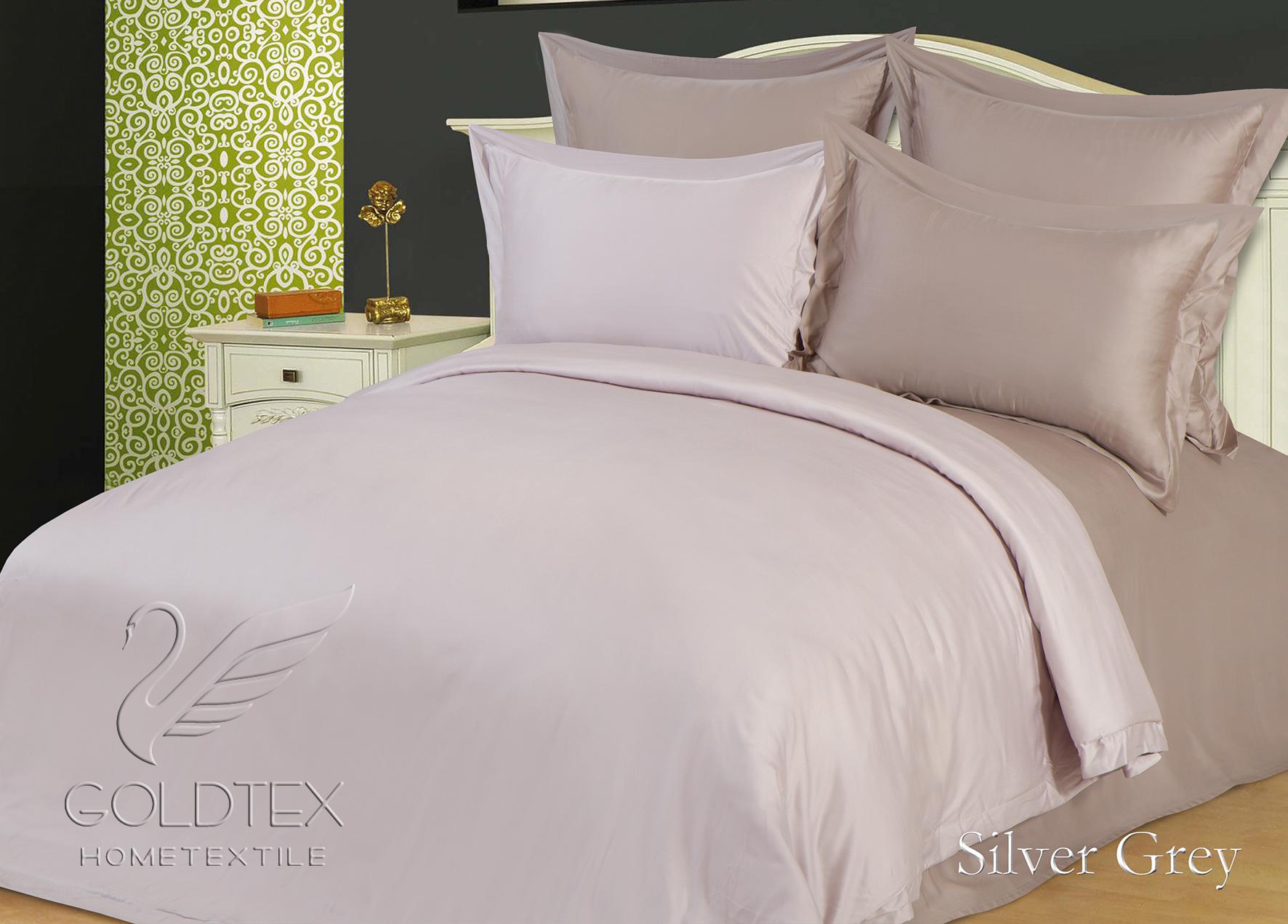 Комплект  Silver Grey , размер Евро с 4 наволочками - Постельное белье артикул: 10867