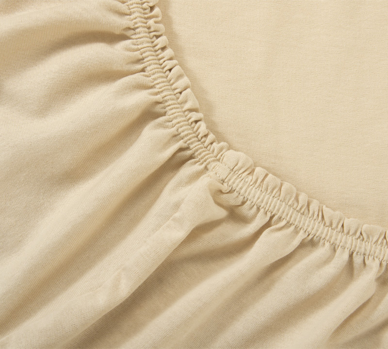 Простыня на резинке Бежевый, размер 160х200 смПростыни<br>Плотность ткани: 120 г/кв. м <br>Высота матраса: 20 см<br><br>Тип: Простыня<br>Размер: 160х200<br>Материал: Кулирка