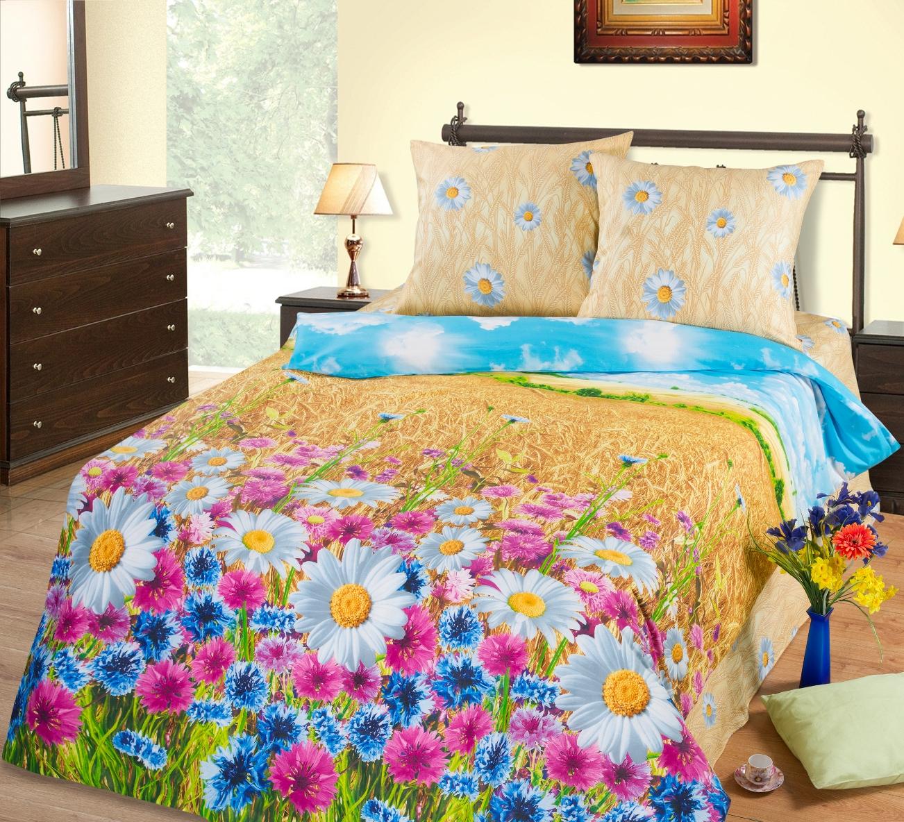 КПБ  Пшеничное поле , размер 2,0-спальный - Акции и скидки артикул: 8638