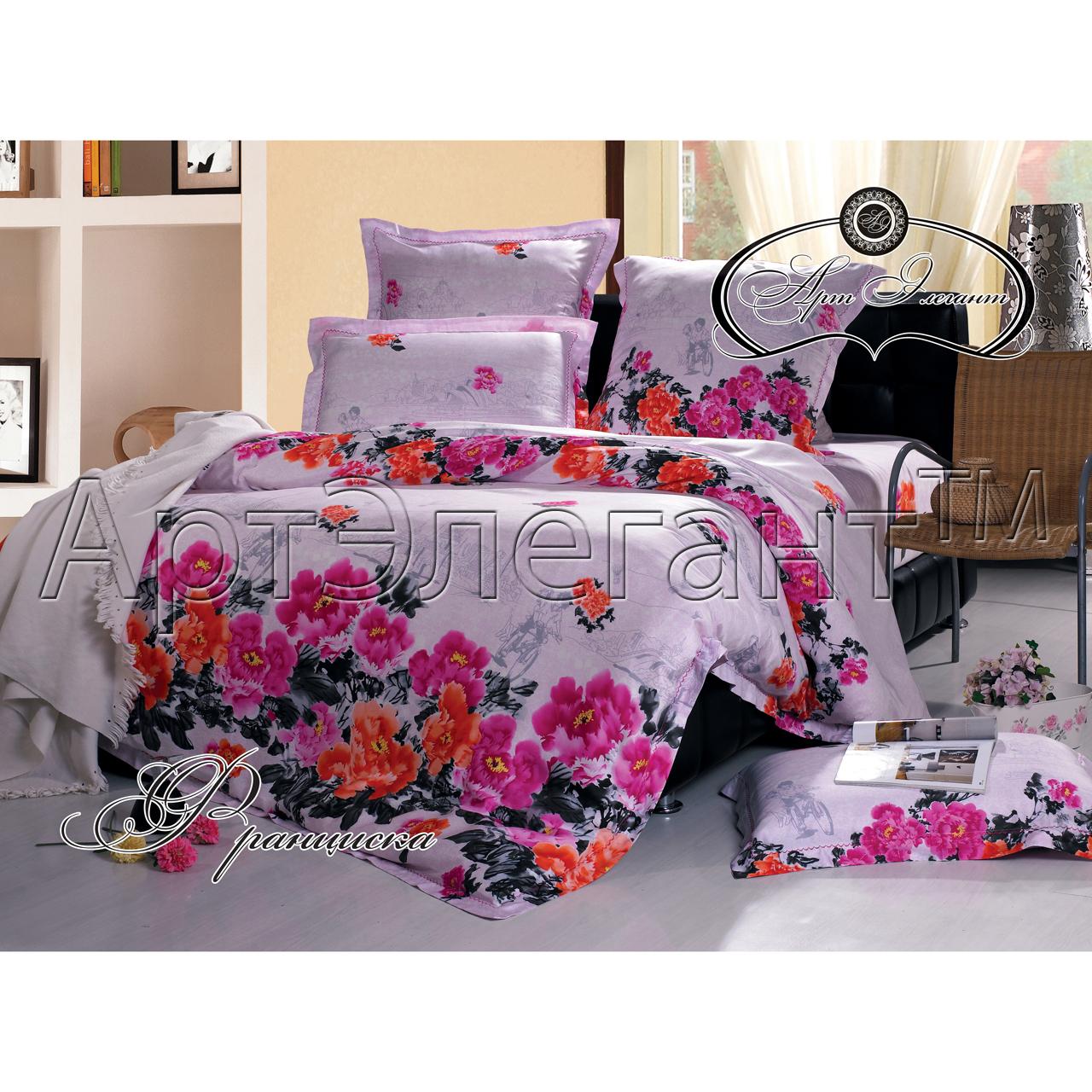 Комплект  Франциска , размер 2,0-спальный с 4 наволочками - Постельное белье артикул: 10777