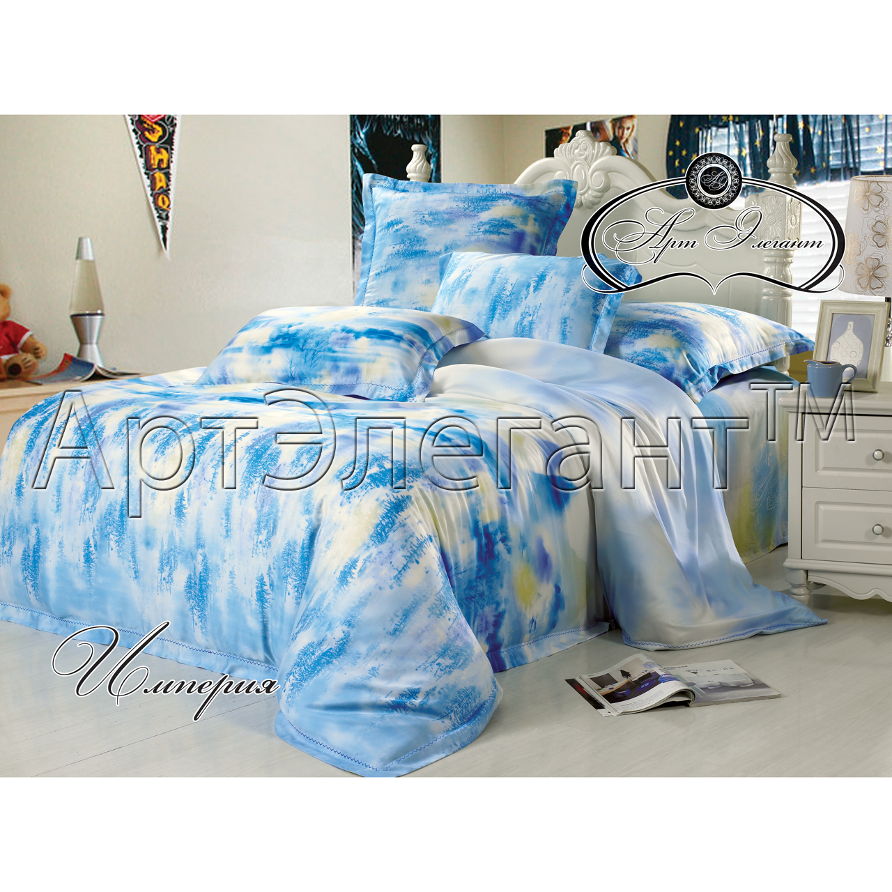 Комплект  Империя , размер 2,0-спальный с 4 наволочками - Постельное белье артикул: 10778
