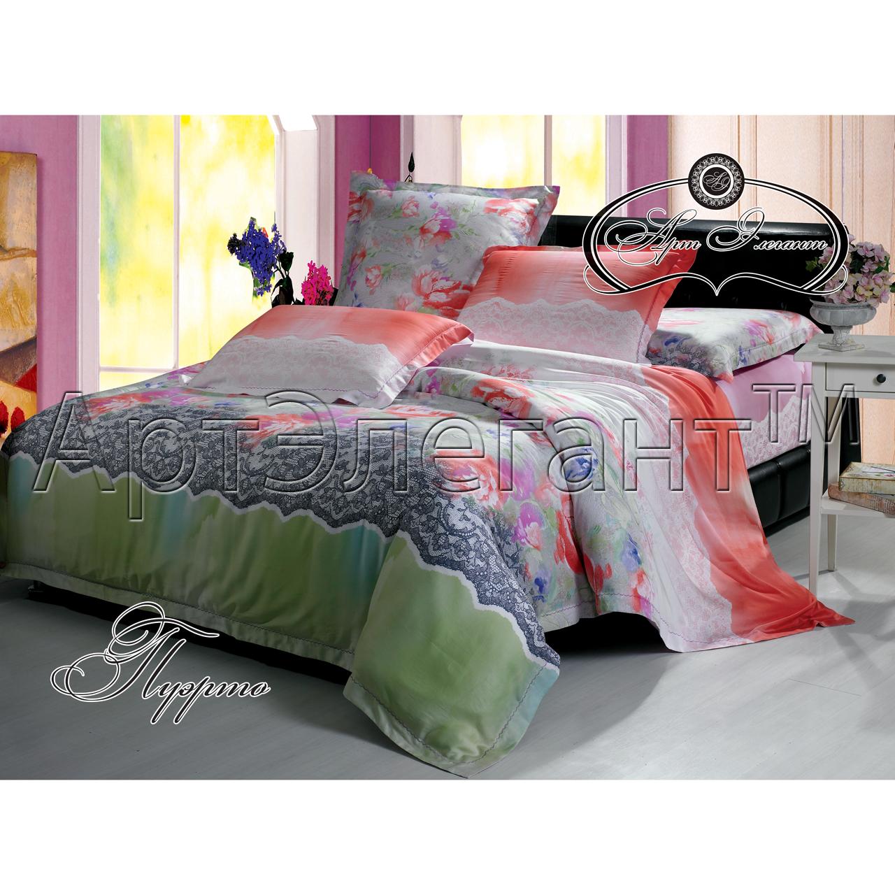 Комплект  Пуэрто , размер 2,0-спальный с 4 наволочками - Постельное белье артикул: 10787
