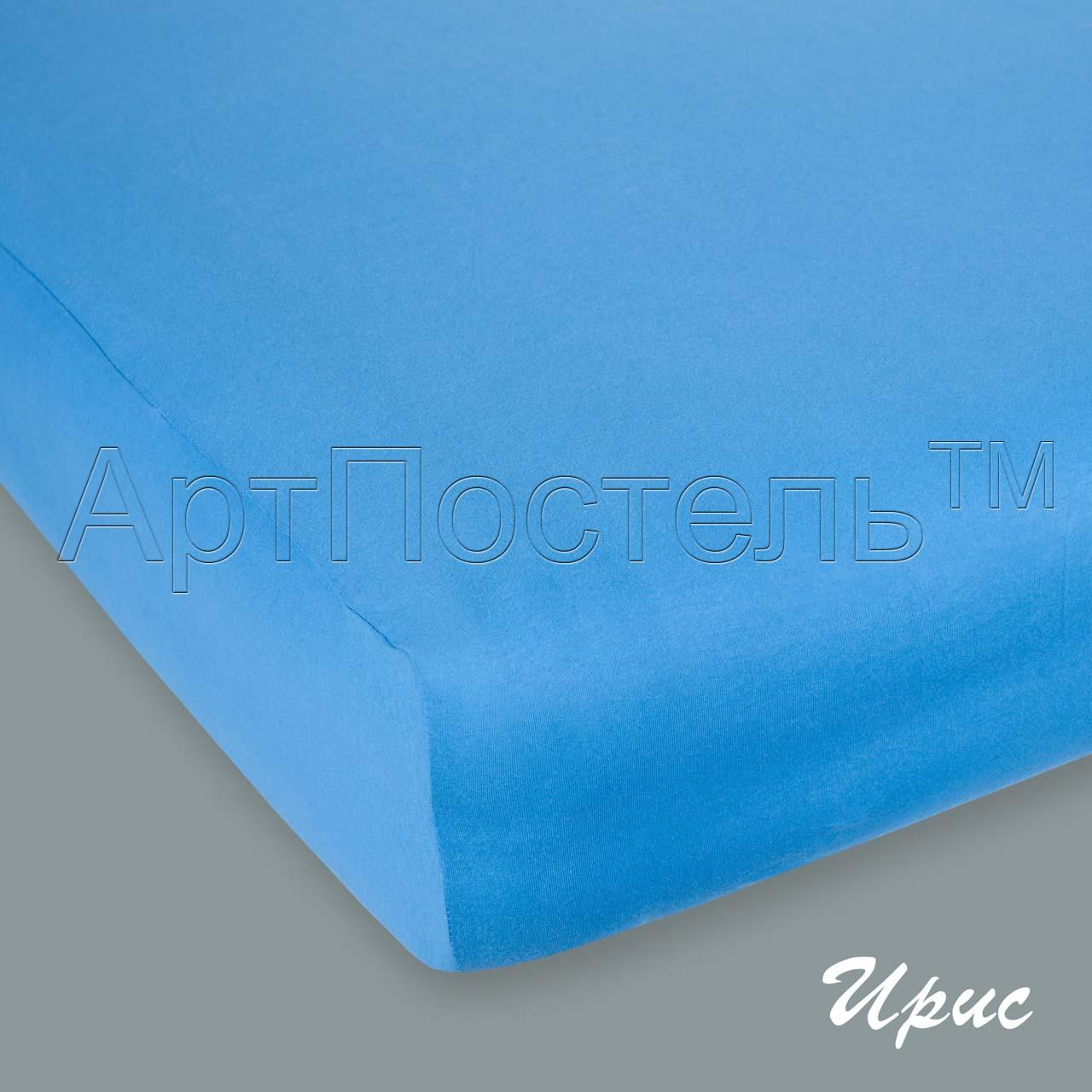 Простыня на резинке Ирис, размер 90х200 смПростыни<br>Плотность ткани:145 г/кв. м<br>Высота матраса:20 см<br><br>Тип: Простыня<br>Размер: 90х200<br>Материал: Кулирка
