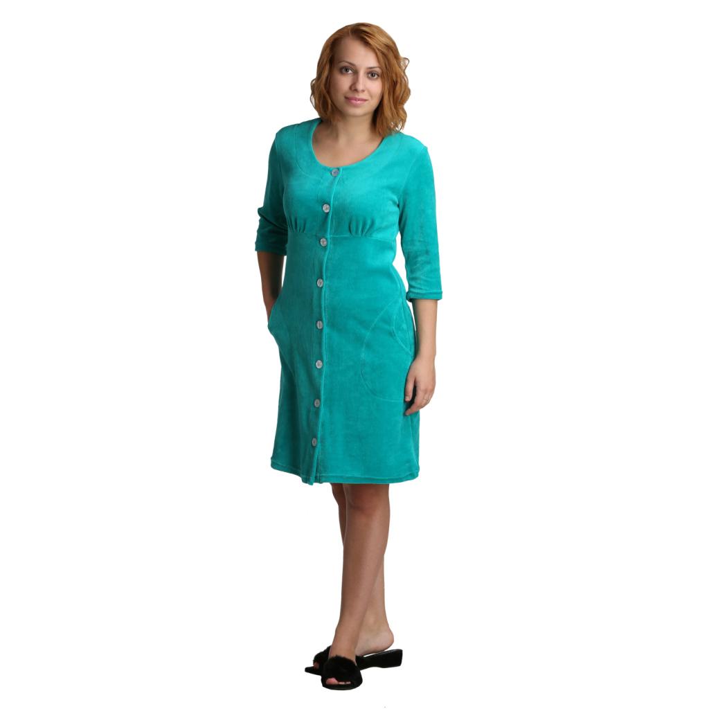 Женский халат Пегги Зеленый, размер 46Халаты<br>Обхват груди:92 см<br>Обхват талии:73 см<br>Обхват бедер:100 см<br>Длина по спинке:93 см<br>Рост:164-170 см<br><br>Тип: Жен. халат<br>Размер: 46<br>Материал: Велюр