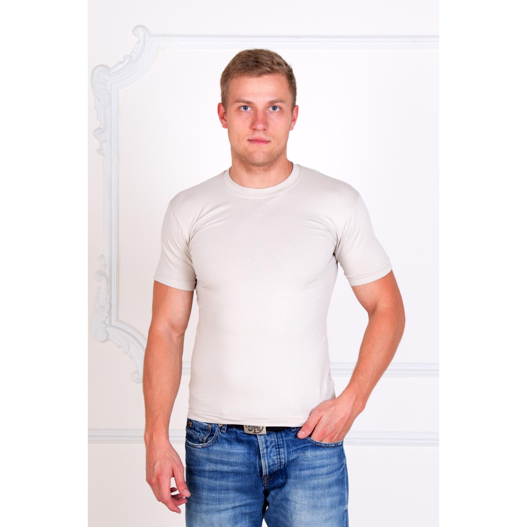 """Мужская футболка """"Алекс"""" Бежевый, размер 56 Лика Дресс"""