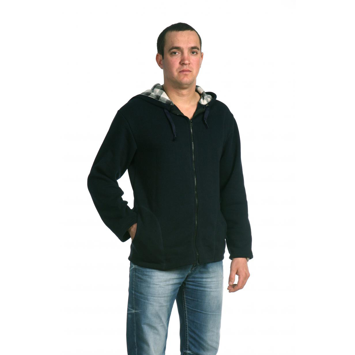 Мужская толстовка «Денвер», размер 48Толстовки, джемпера и рубашки<br>Обхват груди:96 см<br>Обхват талии:88 см<br>Обхват бедер:102 см<br>Рост:172-180 см<br><br>Тип: Муж. толстовка<br>Размер: 48<br>Материал: Футер