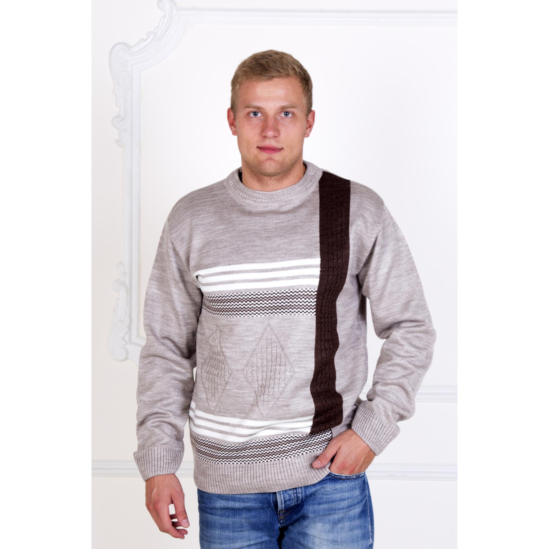 Мужской джемпер «Cotton», размер 48Толстовки, джемпера и рубашки<br>Обхват груди:96 см<br>Обхват талии:88 см<br>Обхват бедер:102 см<br>Рост:172-180 см<br><br>Тип: Муж. кофта<br>Размер: 48<br>Материал: Овечья шерсть