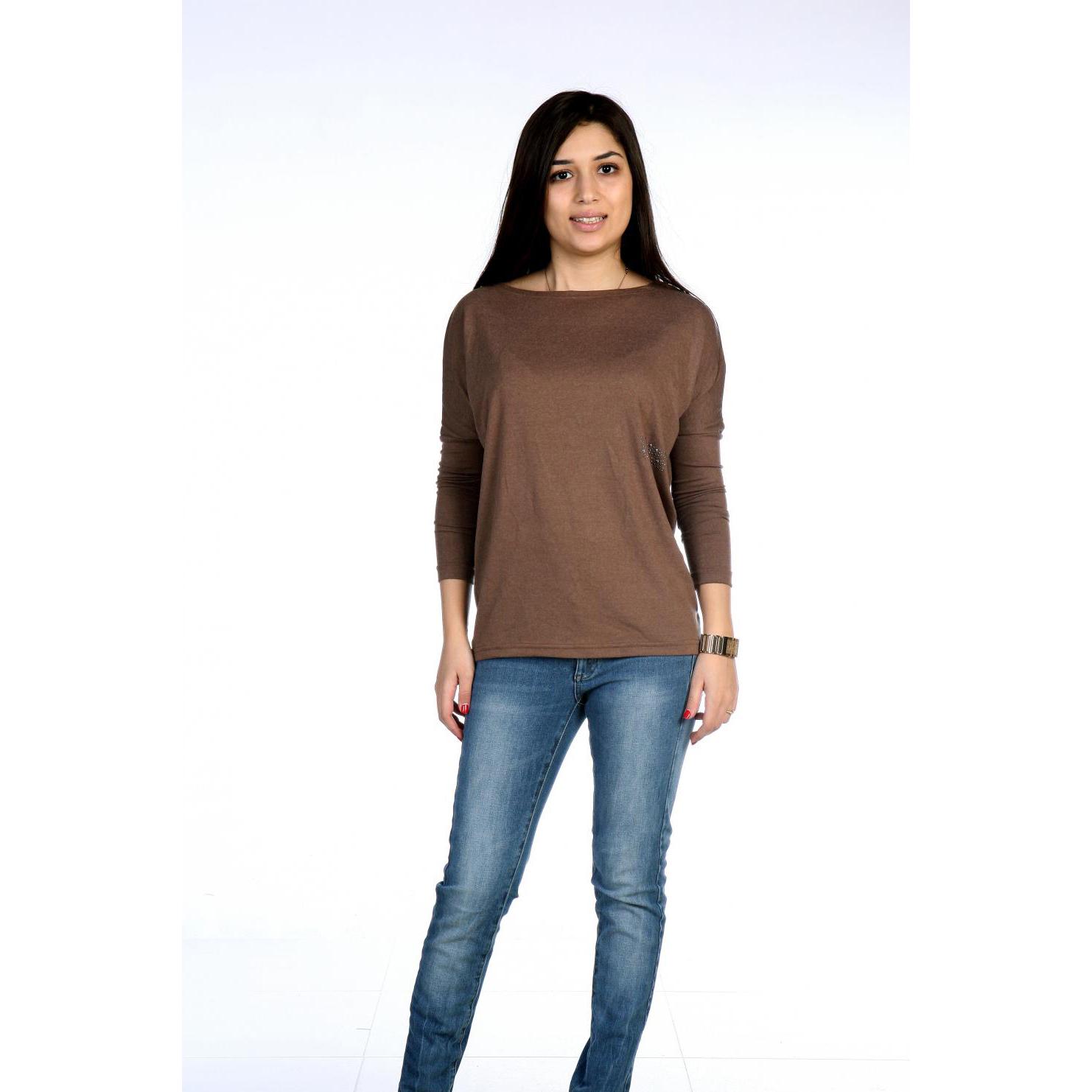Женская блуза Этюд Коричневый, размер 44Блузки, майки, кофты<br>Обхват груди:88 см<br>Обхват талии:68 см<br>Обхват бедер:96 см<br>Рост:167 см<br><br>Тип: Жен. блуза<br>Размер: 44<br>Материал: Хамур