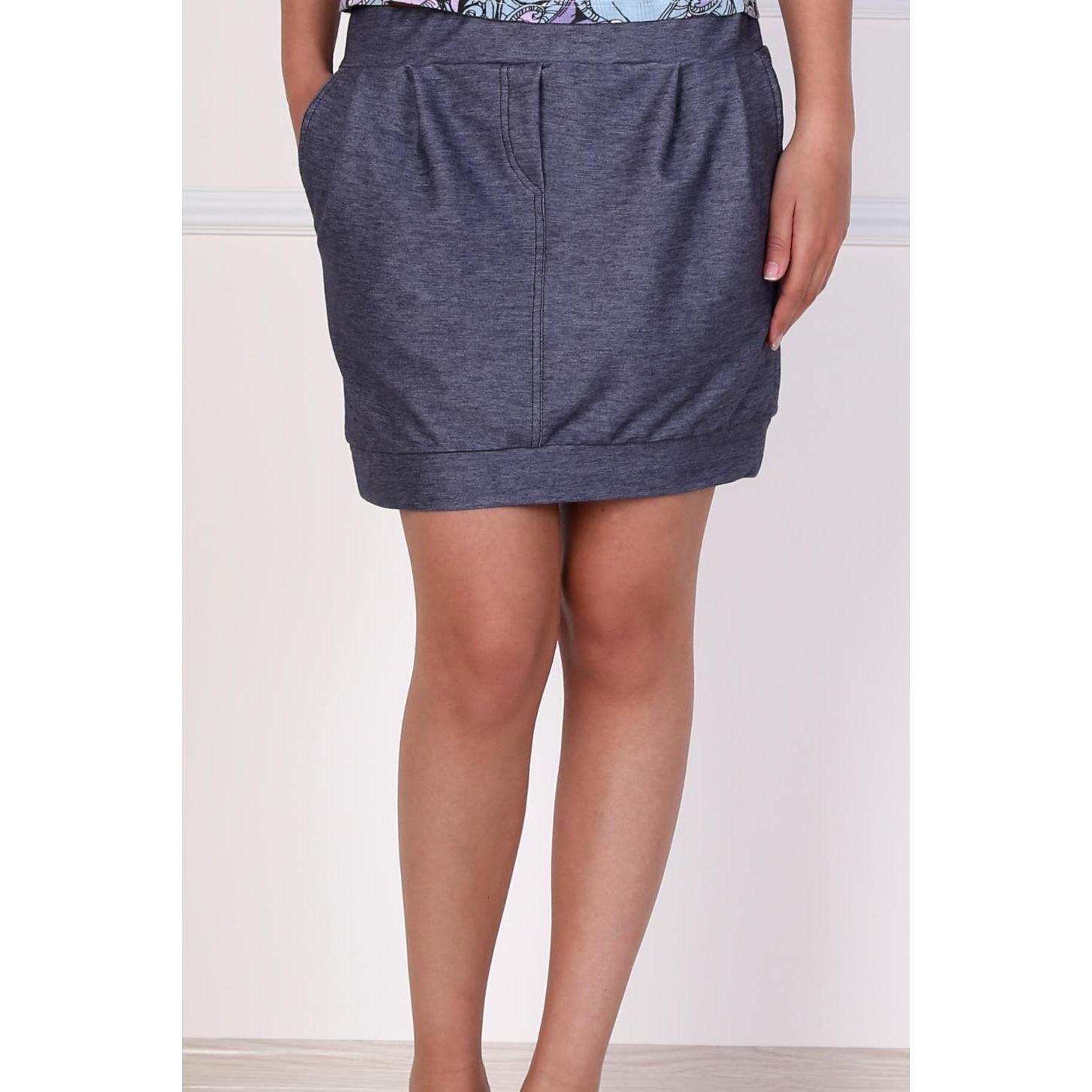 Женская юбка  Зара  Синий, размер 48 - Женская одежда артикул: 14572