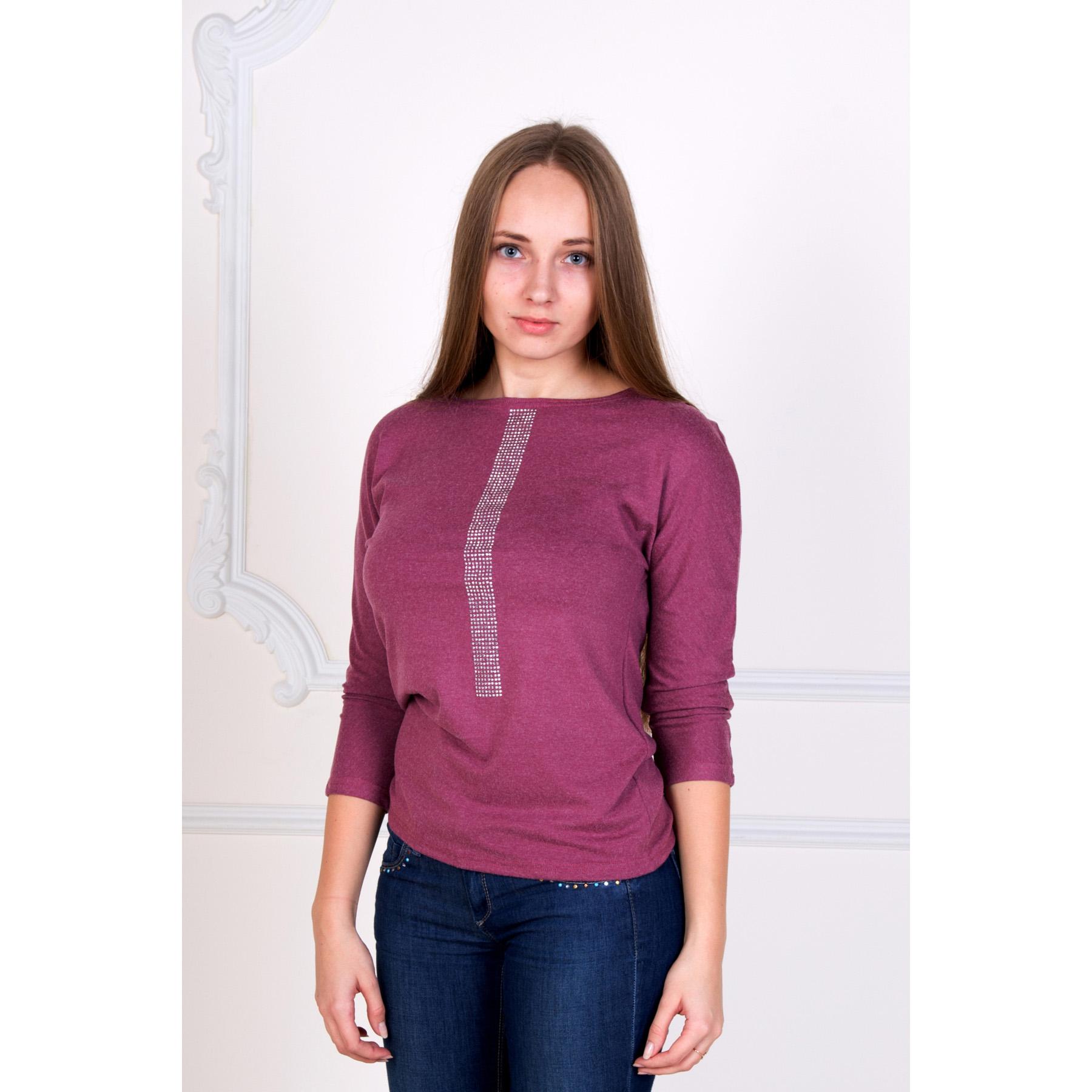 Женская блуза Симфония Брусничный, размер 52Блузы<br>Обхват груди: 104 см <br>Обхват талии: 85 см <br>Обхват бедер: 112 см <br>Рост: 167 см<br><br>Тип: Жен. блуза<br>Размер: 52<br>Материал: Хамур