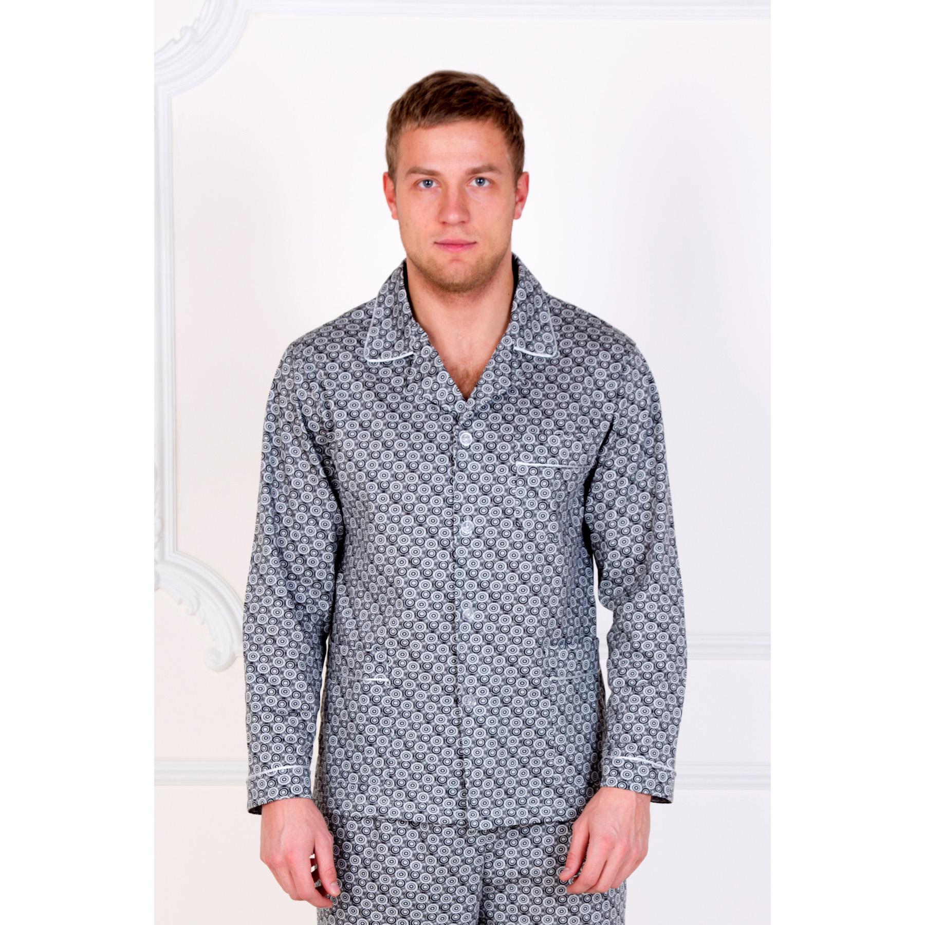 Мужская пижама Ричмонд, размер 54Нижнее и нательное белье<br>Обхват груди:108 см<br>Обхват талии:100 см<br>Обхват бедер:110 см<br>Рост:178-184 см<br><br>Тип: Муж. костюм<br>Размер: 54<br>Материал: Кулирка