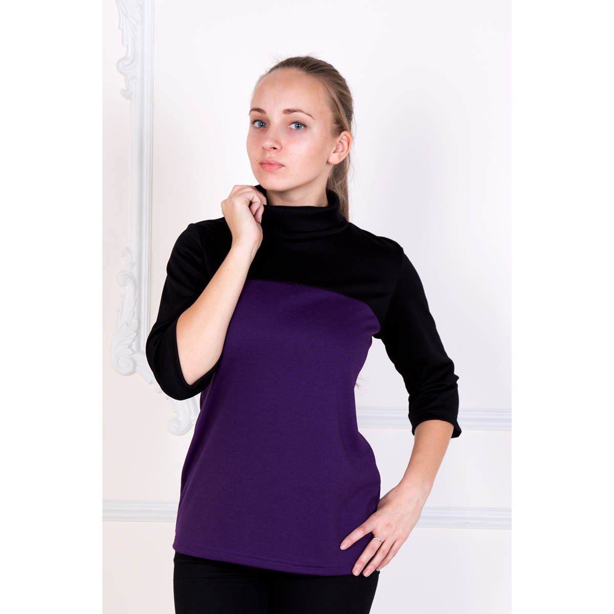 Женская блуза Сити, размер 48Блузы<br>Обхват груди: 96 см <br>Обхват талии: 78 см <br>Обхват бедер: 104 см <br>Рост: 167 см<br><br>Тип: Жен. блуза<br>Размер: 48<br>Материал: Милано