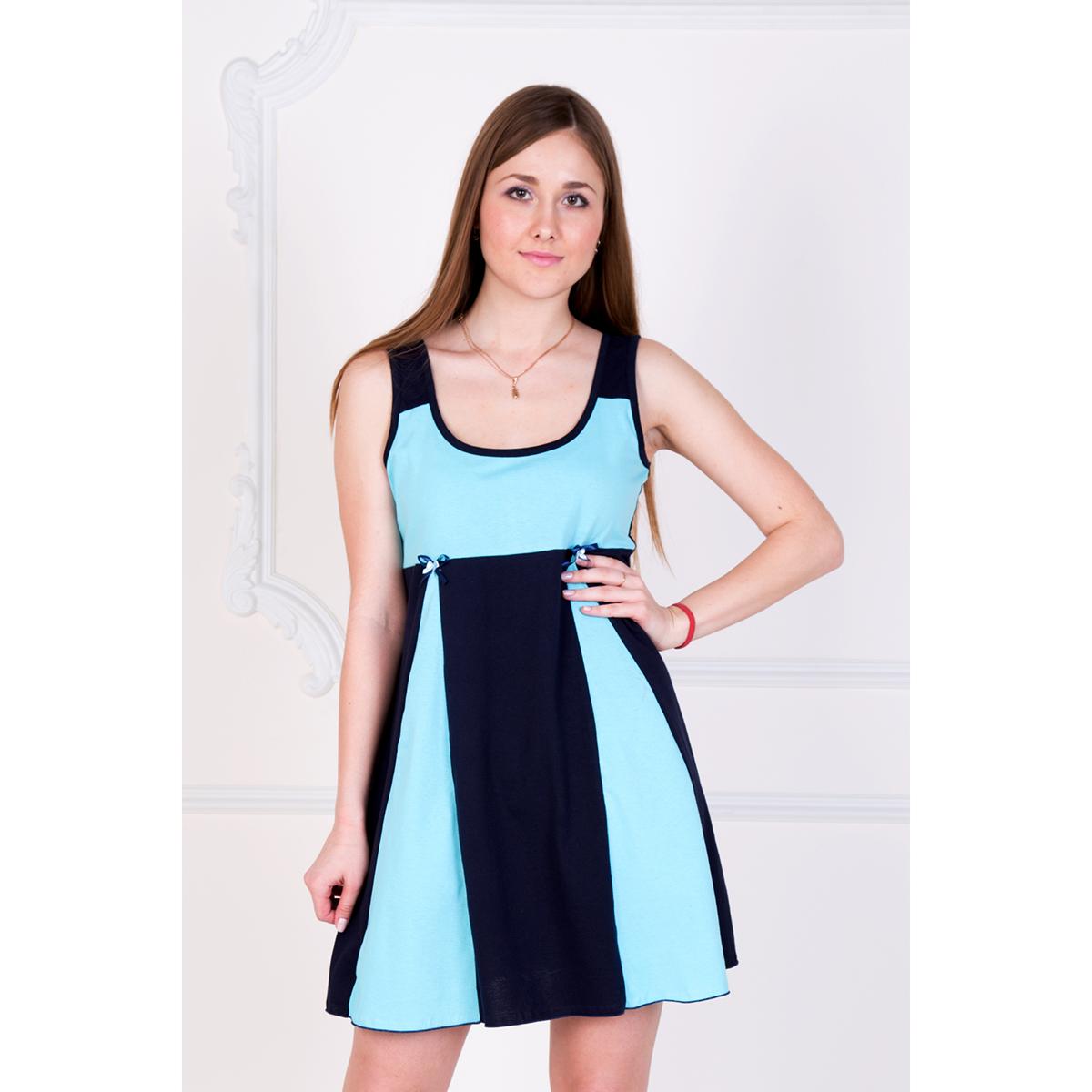 Женская сорочка Бриз Бирюзовый, размер 52Ночные сорочки<br>Обхват груди:104 см<br>Обхват талии:85 см<br>Обхват бедер:112 см<br>Рост:167 см<br><br>Тип: Жен. сорочка<br>Размер: 52<br>Материал: Кулирка