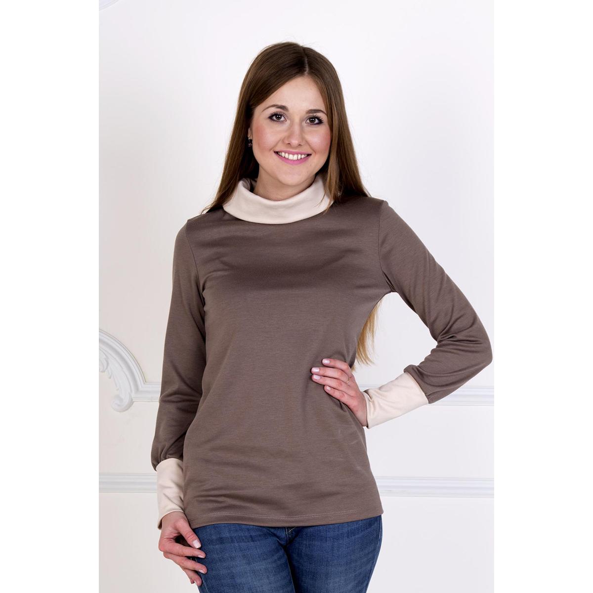 """Женская блуза """"Стайл"""" Коричневый, размер 50 Лика Дресс"""