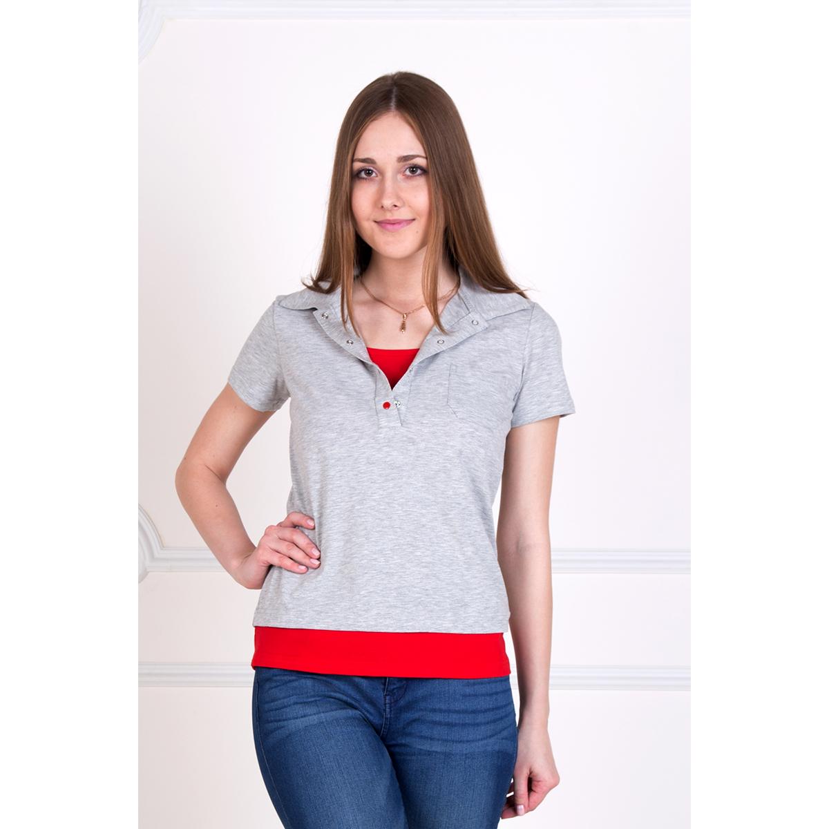 """Купить со скидкой Женская футболка-поло """"Карина"""", размер 46"""