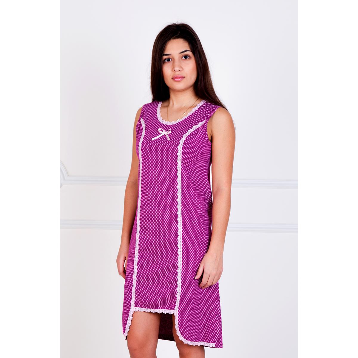 Женская сорочка Астрид Малиновый, размер 44Ночные сорочки<br>Обхват груди:88 см<br>Обхват талии:68 см<br>Обхват бедер:96 см<br>Рост:167 см<br><br>Тип: Жен. сорочка<br>Размер: 44<br>Материал: Кулирка