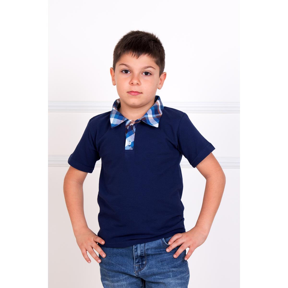 Детская футболка-поло Лаки Синий, размер 30Футболки и майки<br><br><br>Тип: Дет. футболка<br>Размер: 30<br>Материал: Пике