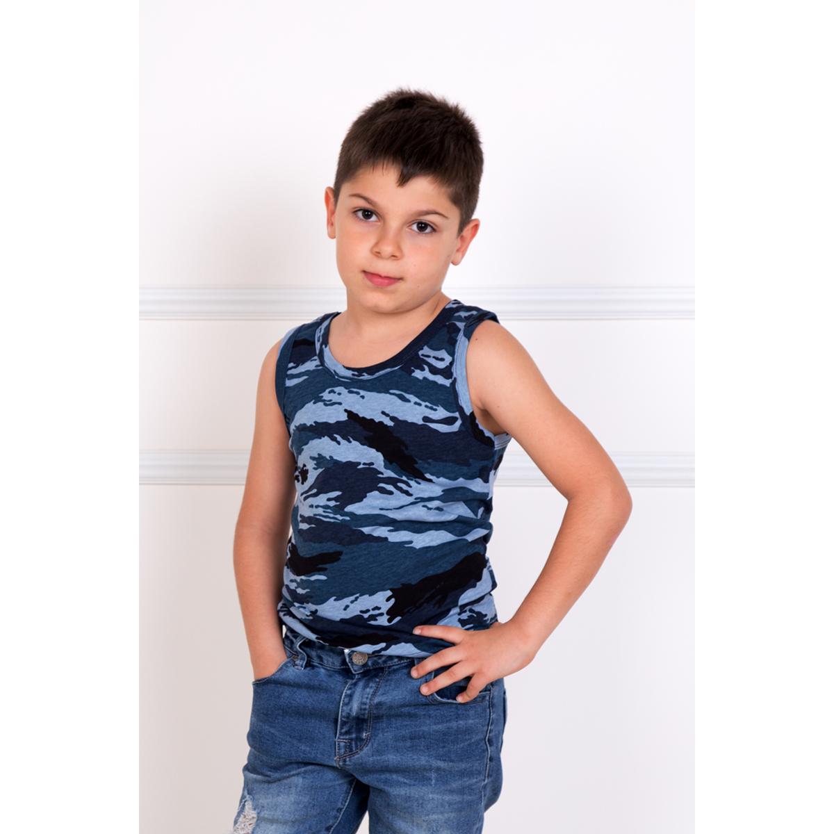 Детская майка Хаки Синий, размер 26Майки и футболки<br><br><br>Тип: Дет. футболка<br>Размер: 26<br>Материал: Кулирка