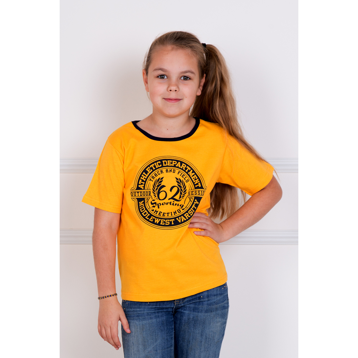 Детская футболка Камелот Желтый, размер 28Майки и футболки<br><br><br>Тип: Дет. футболка<br>Размер: 28<br>Материал: Кулирка