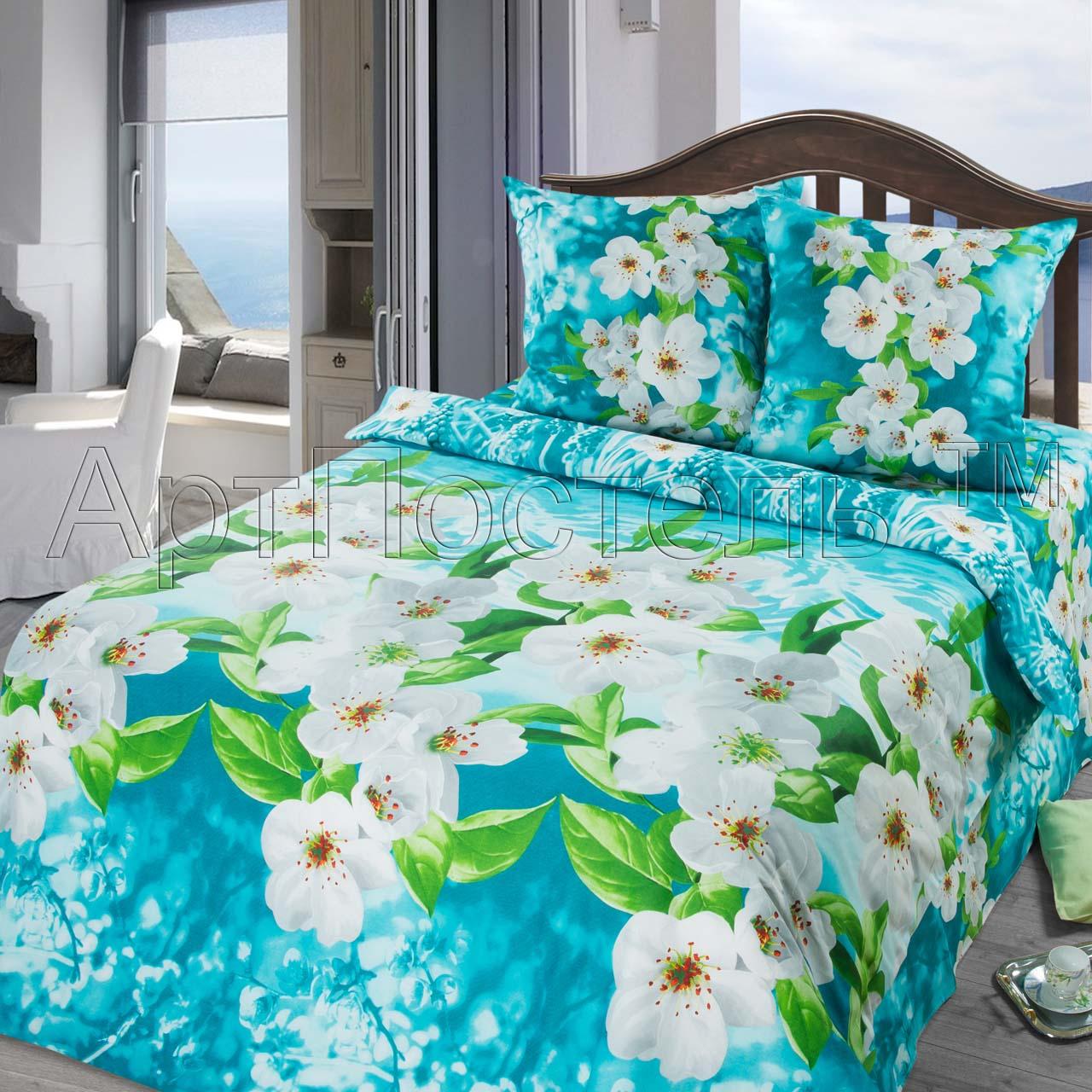 КПБ Зима-Лето  Адель , размер 2,0-спальный с европростыней - Постельное белье артикул: 9026