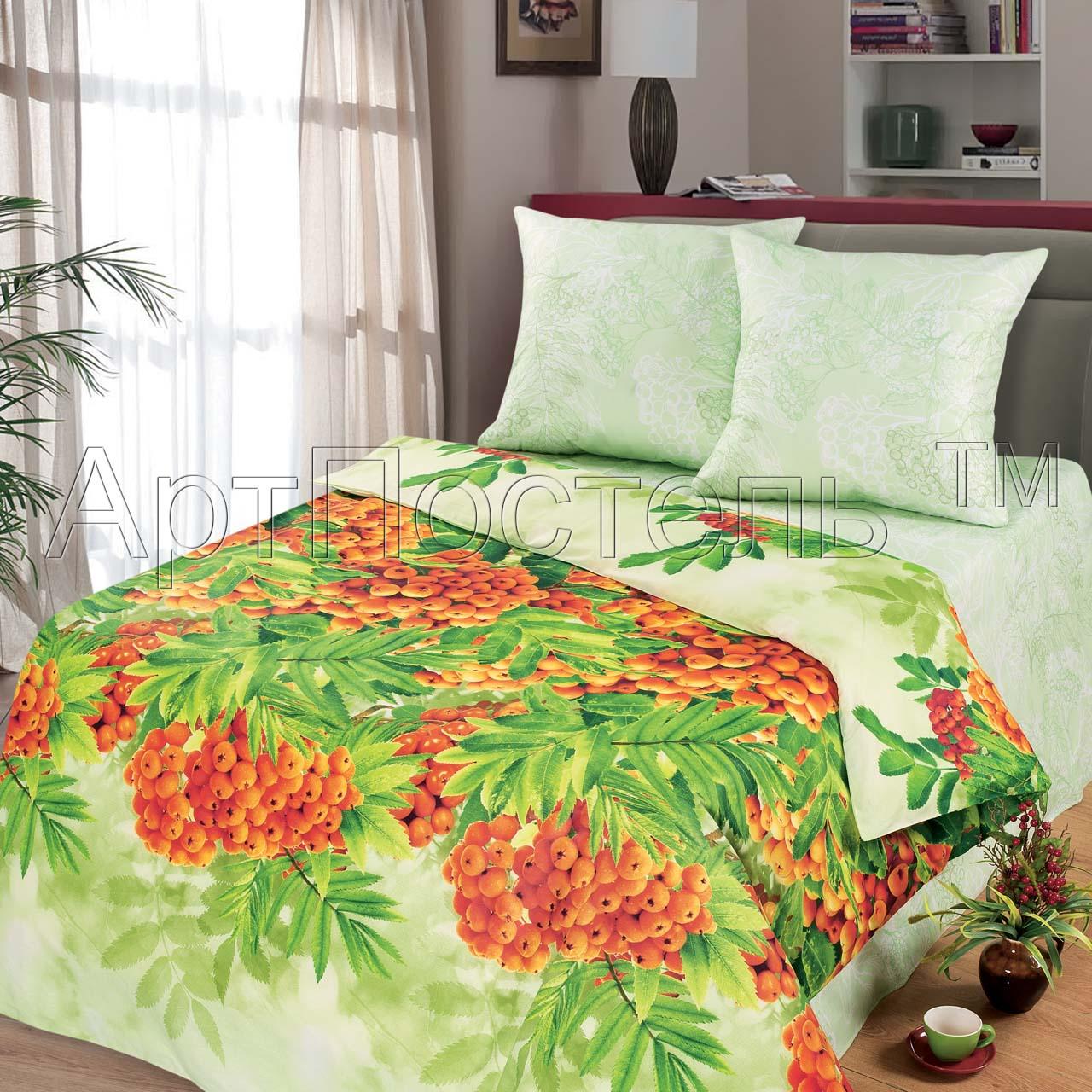 КПБ Зима-Лето  Рябинушка , размер 2,0-спальный с европростыней - Постельное белье артикул: 9021