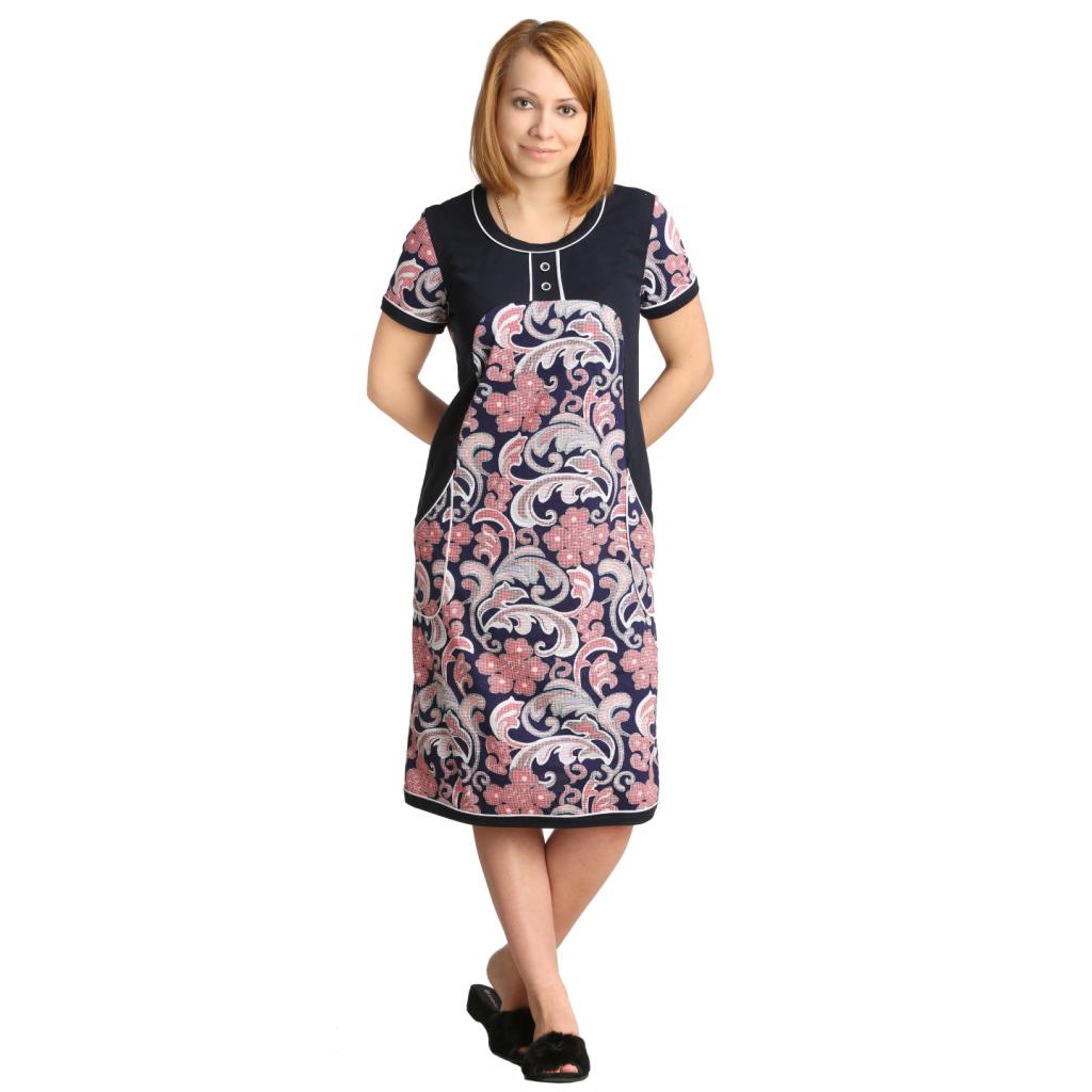 Женская туника-платье Эхо, размер 50Платья, туники<br>Обхват груди:100 см<br>Обхват талии:82 см<br>Обхват бедер:108 см<br>Длина по спинке:100 см<br>Рост:164-170 см<br><br>Тип: Жен. туника<br>Размер: 50<br>Материал: Кулирка