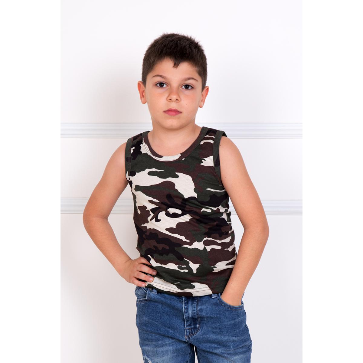 Детская майка Хаки Зеленый, размер 30Футболки и майки<br><br><br>Тип: Дет. футболка<br>Размер: 30<br>Материал: Кулирка
