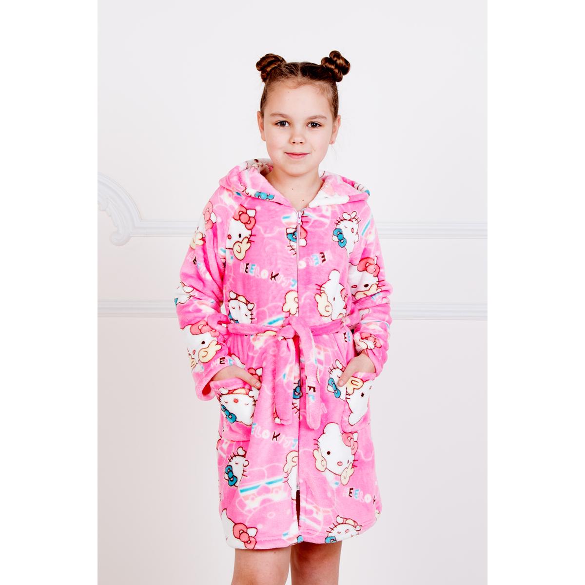 """Детский халат """"Китти"""" Розовый, размер 28 Лика Дресс"""