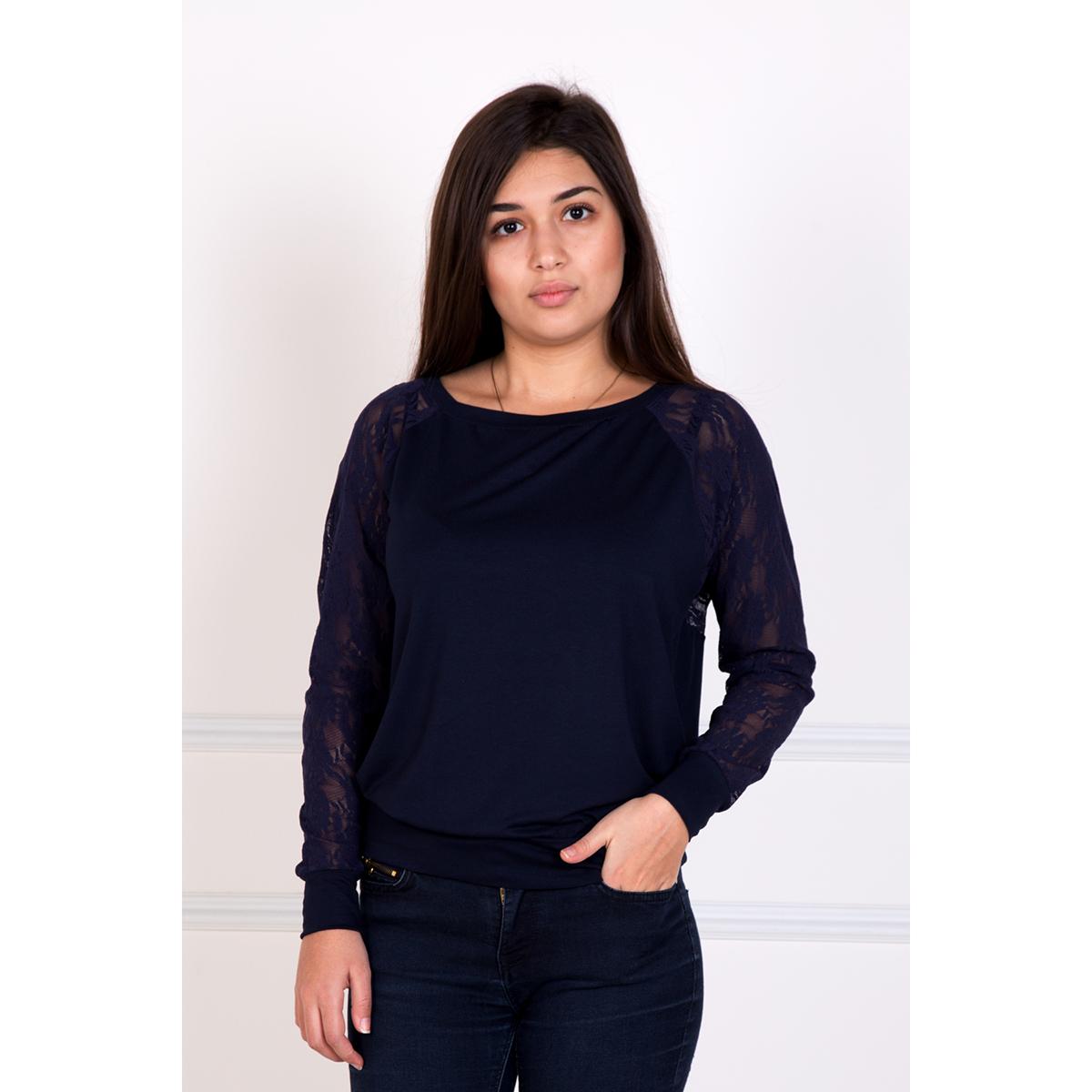 Женская блуза Силена Синий, размер 44Блузы<br>Обхват груди: 88 см <br>Обхват талии: 68 см <br>Обхват бедер: 96 см <br>Рост: 167 см<br><br>Тип: Жен. блуза<br>Размер: 44<br>Материал: Вискоза