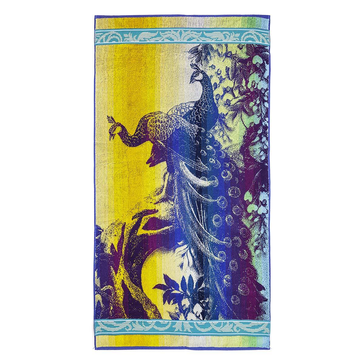 Полотенце Павлины, размер 70х140 см.Махровые полотенца<br><br><br>Тип: Полотенце<br>Размер: 70х140<br>Материал: Махра