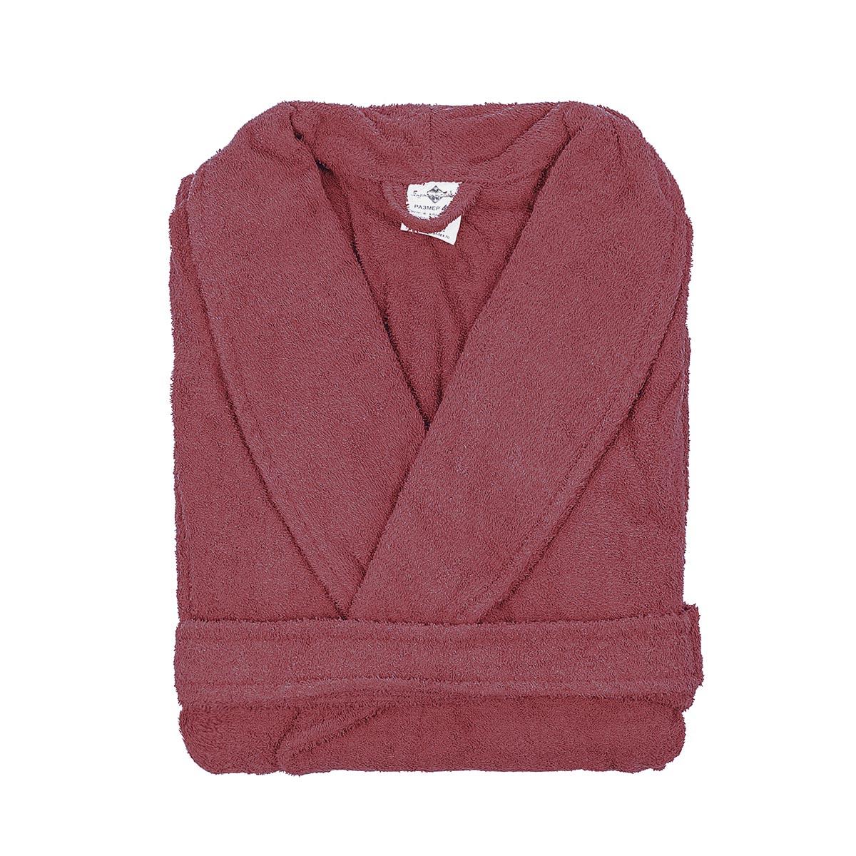 Мужской халат Сейланн Брусничный, размер 48Нижнее и нательное белье<br><br><br>Тип: Муж. халат<br>Размер: 48<br>Материал: Махра