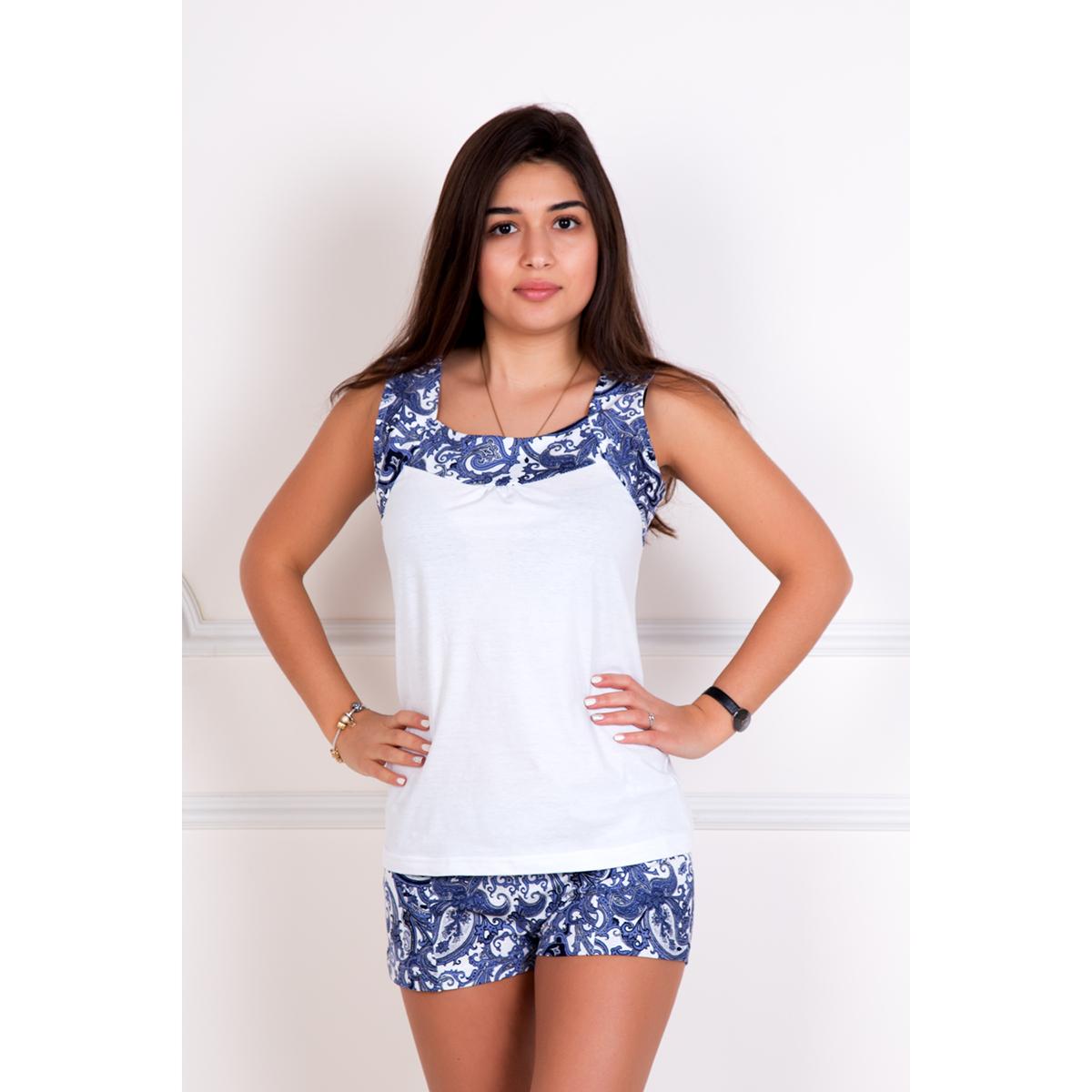 Женский костюм «Аллегра» Белый, размер 50Костюмы<br>Обхват груди:100 см<br>Обхват талии:82 см<br>Обхват бедер:108 см<br>Рост:167 см<br><br>Тип: Жен. костюм<br>Размер: 50<br>Материал: Кулирка