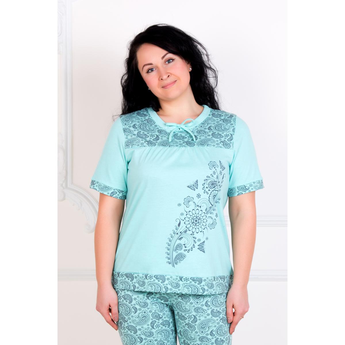 Женский пижама Норма, размер 50Пижамы<br>Обхват груди:100 см<br>Обхват талии:82 см<br>Обхват бедер:108 см<br>Рост:167 см<br><br>Тип: Жен. костюм<br>Размер: 50<br>Материал: Кулирка