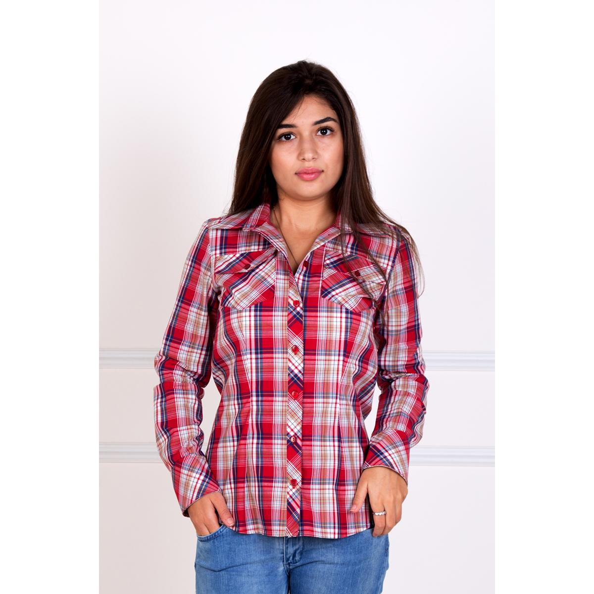 Женская рубашка Даяна, размер 50Блузки, майки, кофты<br>Обхват груди:100 см<br>Обхват талии:82 см<br>Обхват бедер:108 см<br>Рост:167 см<br><br>Тип: Жен. рубашка<br>Размер: 50<br>Материал: Хлопок