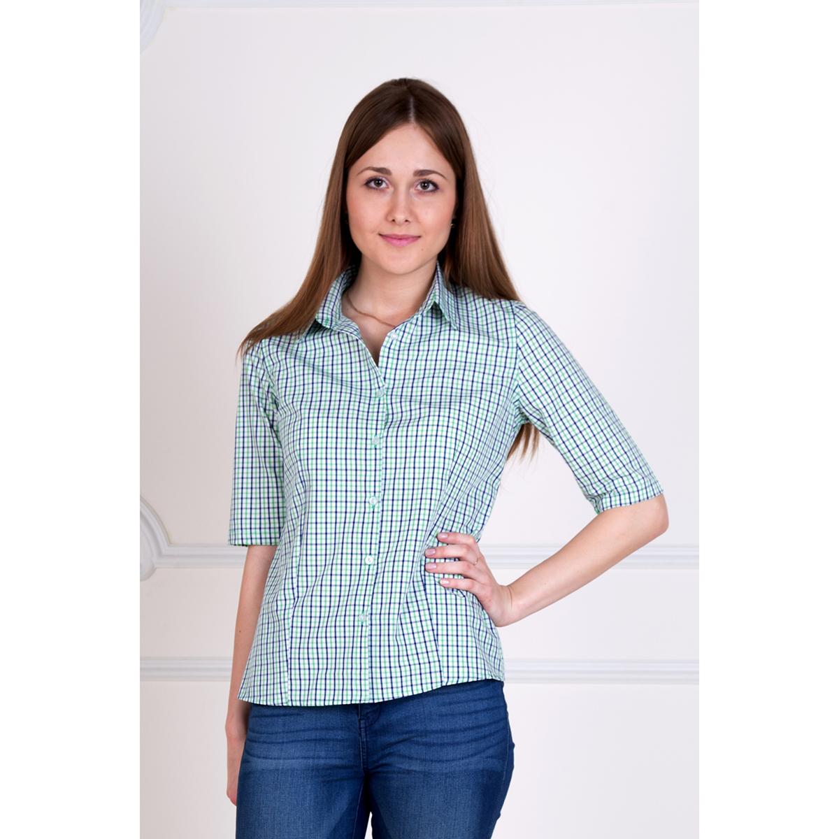 Женская рубашка Молодежная Зеленый, размер 50Блузки, майки, кофты<br>Обхват груди:100 см<br>Обхват талии:82 см<br>Обхват бедер:108 см<br>Рост:167 см<br><br>Тип: Жен. рубашка<br>Размер: 50<br>Материал: Хлопок