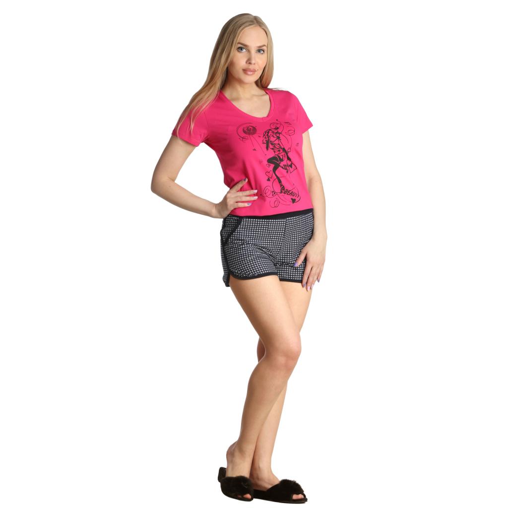 Женские шорты Мэй, размер 52Шорты, бриджи, брюки<br>Обхват талии:86 см<br>Обхват бедер:112 см<br>Длина по внеш. шву:28 см<br>Рост:164-170 см<br><br>Тип: Жен. шорты<br>Размер: 52<br>Материал: Кулирка