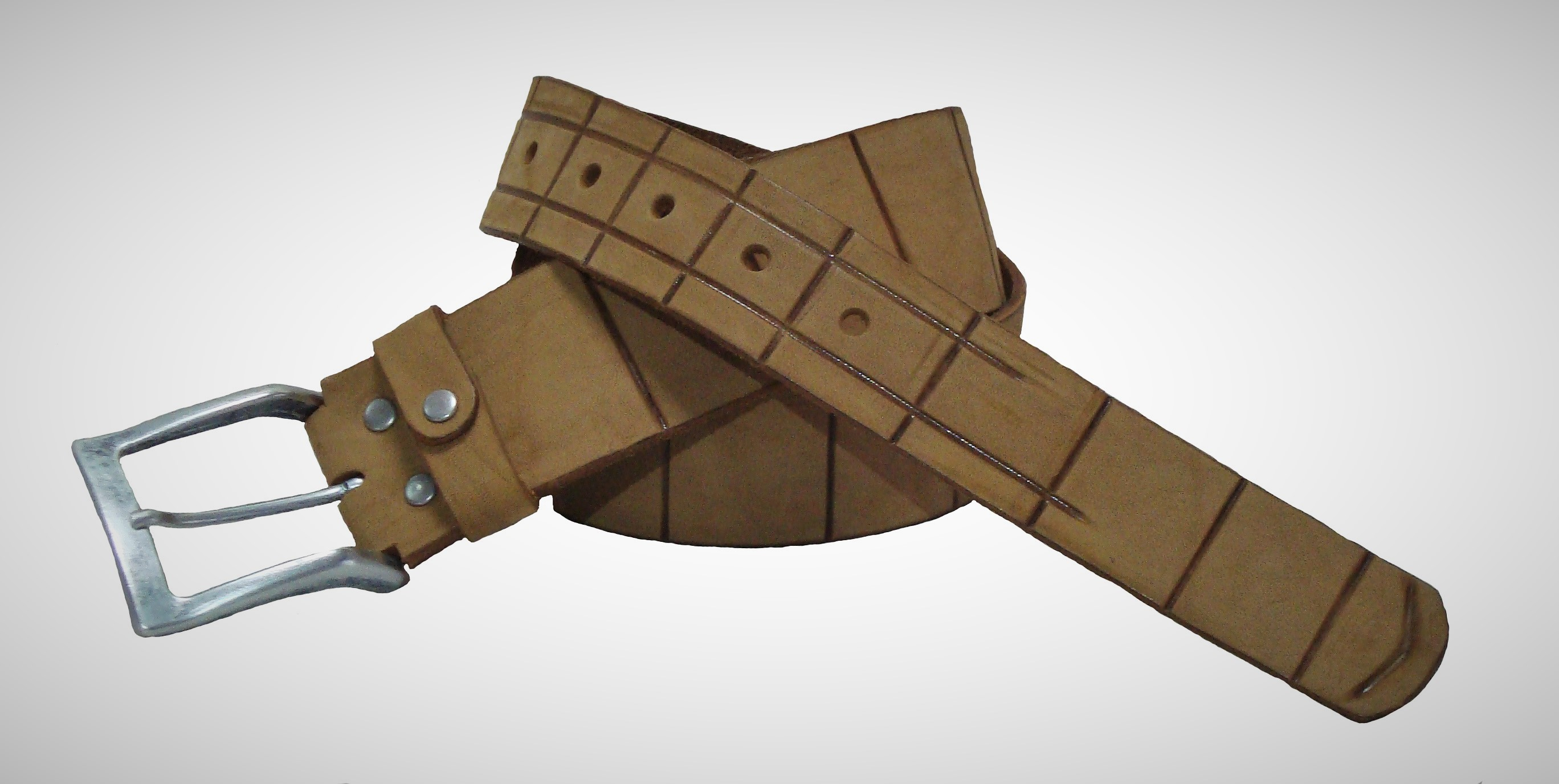 Ремень Модель № 12Сумки и др. изделия из кожи<br>Общая длинна ремня: 105 см <br>Ширина ремня: 5 - 3,5 см <br>Толщина ремня: 3,5 мм <br>Размер ремня - обхват талии: 83 - 93 см<br><br>Тип: Ремень<br>Размер: -<br>Материал: Натуральная кожа