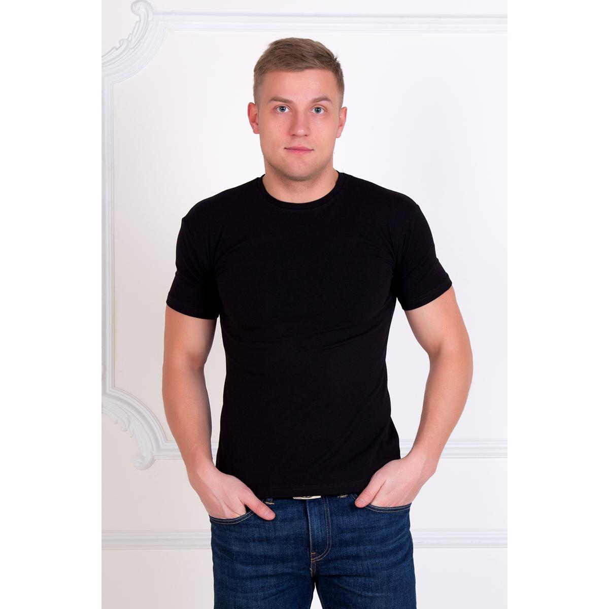 """Мужская футболка """"Алекс"""" Черный, размер 46 Лика Дресс"""