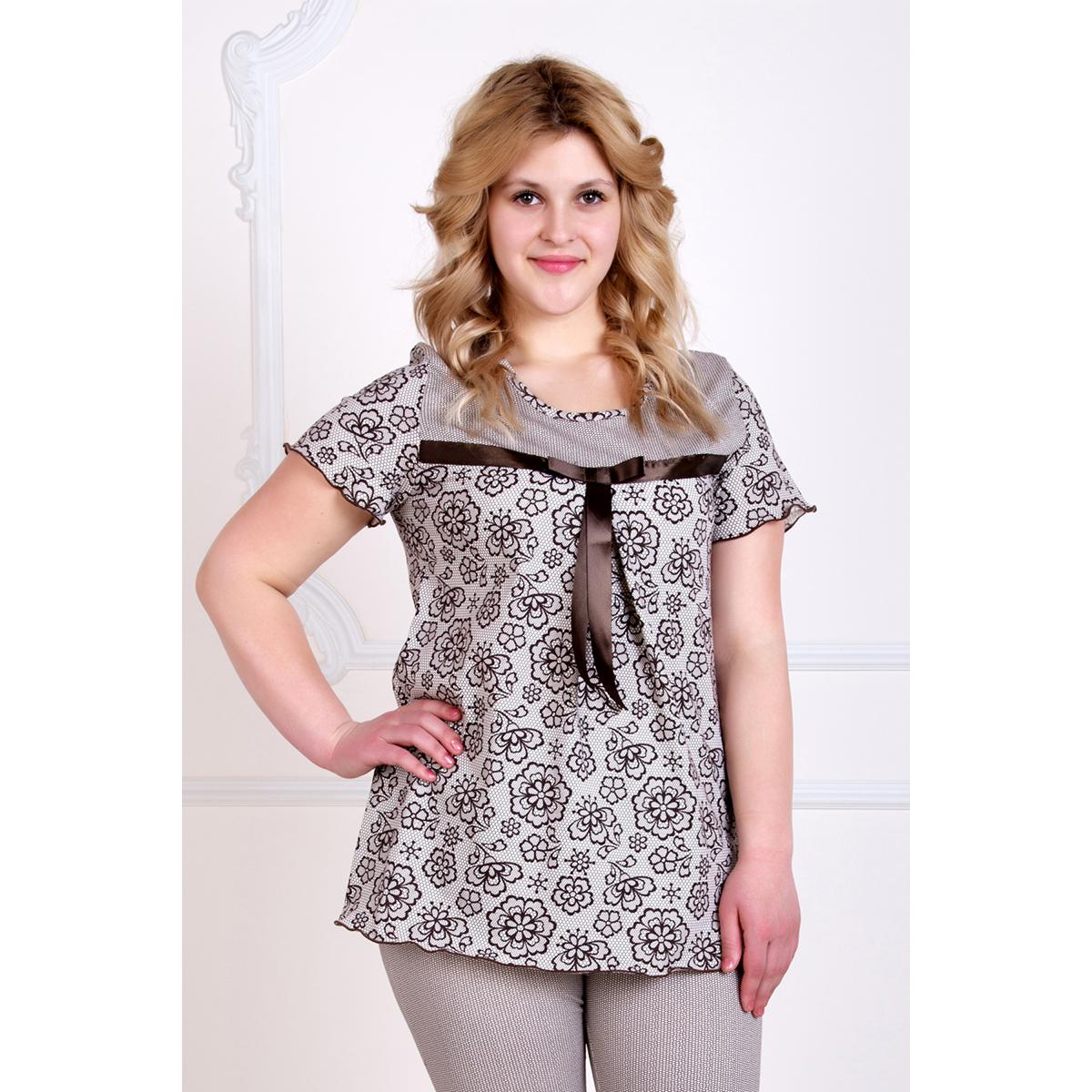 Женская пижама Лотос, размер 50Пижамы и ночные сорочки<br>Обхват груди:100 см<br>Обхват талии:82 см<br>Обхват бедер:108 см<br>Рост:167 см<br><br>Тип: Жен. костюм<br>Размер: 50<br>Материал: Кулирка