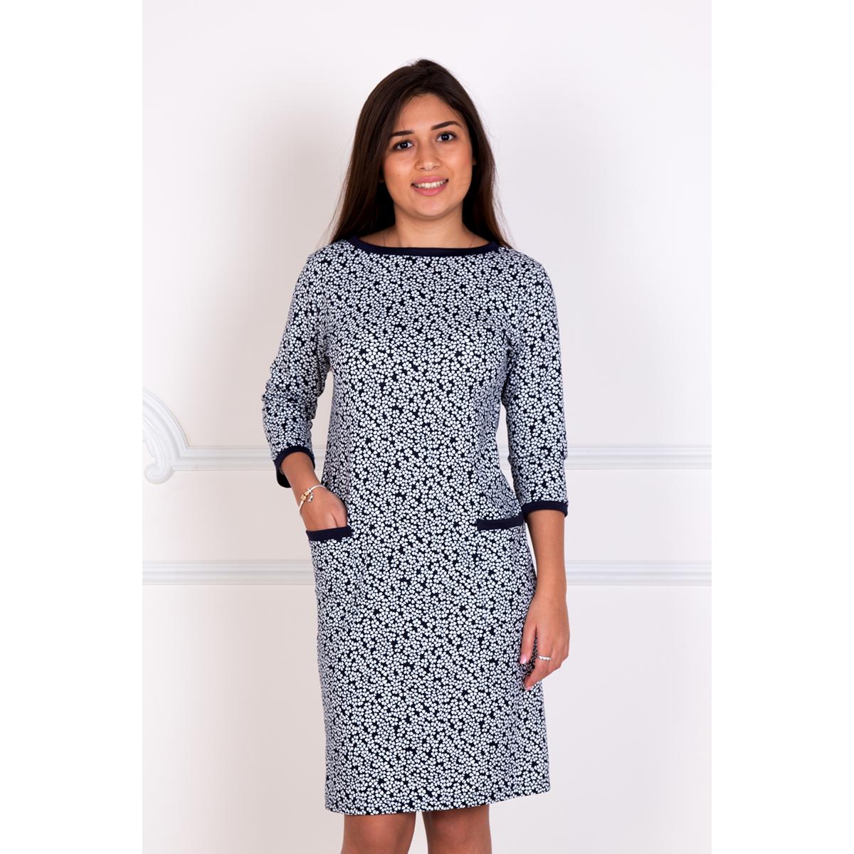 Женское платье Дея, размер 50Платья, туники<br>Обхват груди:100 см<br>Обхват талии:82 см<br>Обхват бедер:108 см<br>Длина по спинке:92 см<br>Рост:167 см<br><br>Тип: Жен. платье<br>Размер: 50<br>Материал: Милано