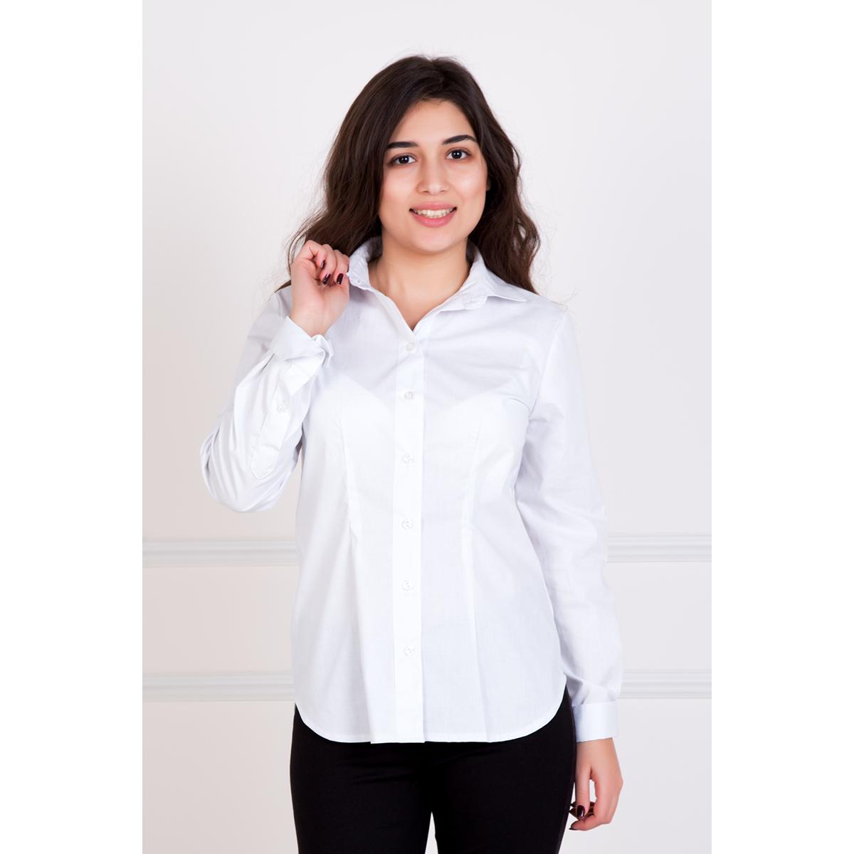 Женская рубашка Герда, размер 54Рубашки<br>Обхват груди: 108 см <br>Обхват талии: 88 см <br>Обхват бедер: 116 см <br>Рост: 167 см<br><br>Тип: Жен. рубашка<br>Размер: 54<br>Материал: Хлопок