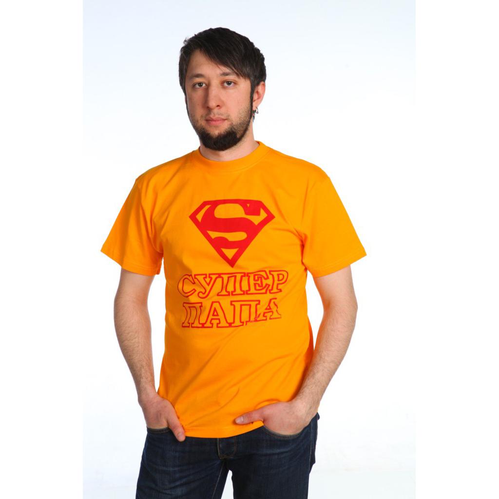 Мужская футболка Супер Папа, размер MФутболки и майки<br><br><br>Тип: Муж. футболка<br>Размер: M<br>Материал: Кулирка