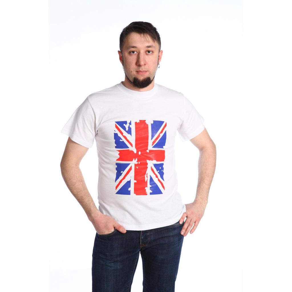Мужская футболка Британский флаг, размер 2XLМайки и футболки<br><br><br>Тип: Муж. футболка<br>Размер: 2XL<br>Материал: Кулирка