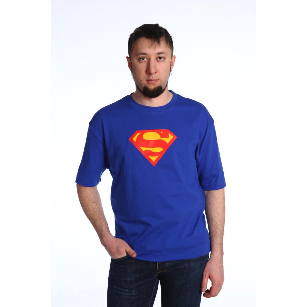 Мужская футболка Супермен, размер SМайки и футболки<br><br><br>Тип: Муж. футболка<br>Размер: S<br>Материал: Кулирка