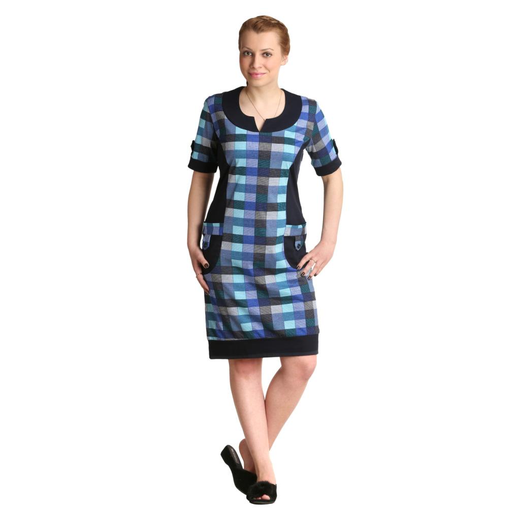 Женская туника-платье Берта арт. 0321, размер 48Платья<br>Обхват груди:96 см<br>Обхват талии:77 см<br>Обхват бедер:104 см<br>Длина по спинке:99 см<br>Рост:164-170 см<br><br>Тип: Жен. туника<br>Размер: 48<br>Материал: Кулирка