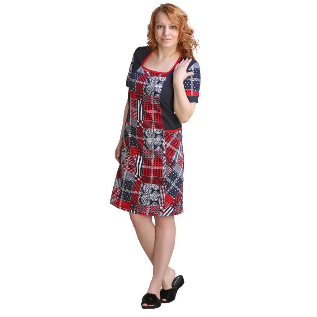 Женская туника-платье Айли, размер 58Платья, туники<br>Обхват груди:116 см<br>Обхват талии:100 см<br>Обхват бедер:124 см<br>Длина по спинке:100 см<br>Рост:164-170 см<br><br>Тип: Жен. туника<br>Размер: 58<br>Материал: Кулирка