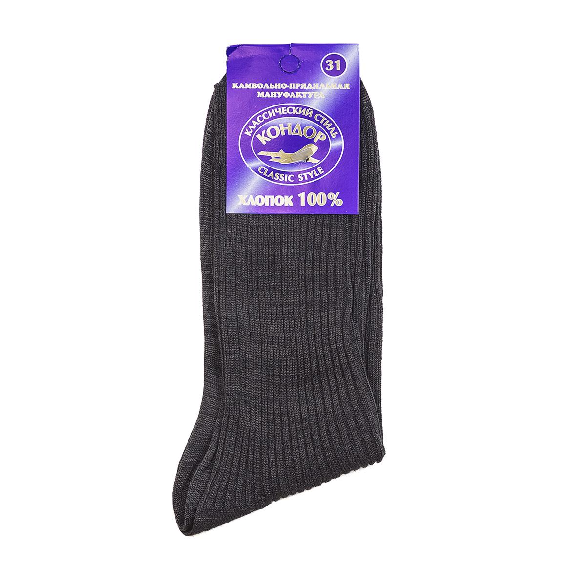 Носки мужские Кондор, размер 45-46Носки<br><br><br>Тип: Муж. носки<br>Размер: 45-46<br>Материал: Хлопок
