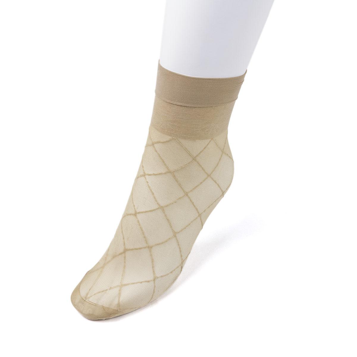 """Носки капроновые """"Ланю"""" Бамбук, цвет Телесный Китай"""